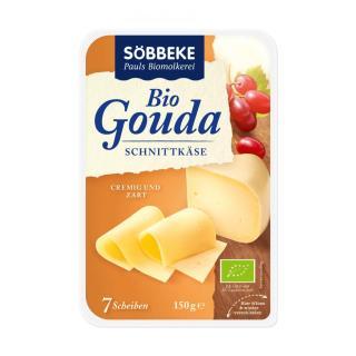 Käse Gouda Käse in Scheiben