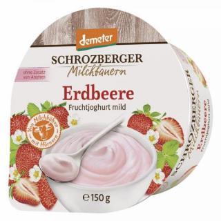 Jogurt Erdbeer Becher 150g DEMETER