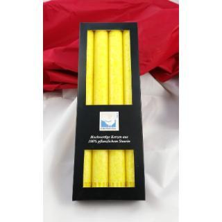 Kerze Leuchterkerze gelb 4Stk.