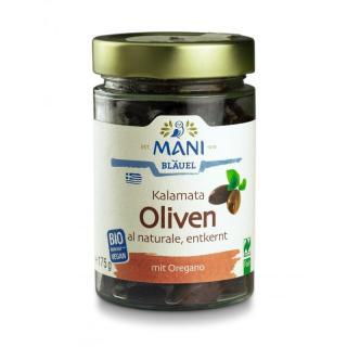 Oliven aus Kalamata schwarz ohne Stein