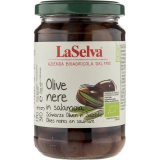 Oliven schwarz in Salzlake